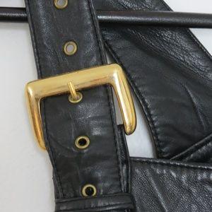 Dresses & Skirts - Vintage Real Leather Skirt Overalls